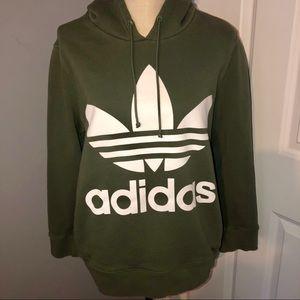 Adidas Trefoil Olive Green Hoodie